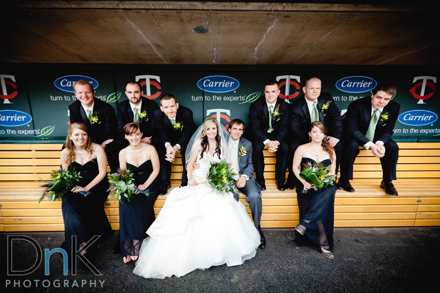 Target Field Wedding Party