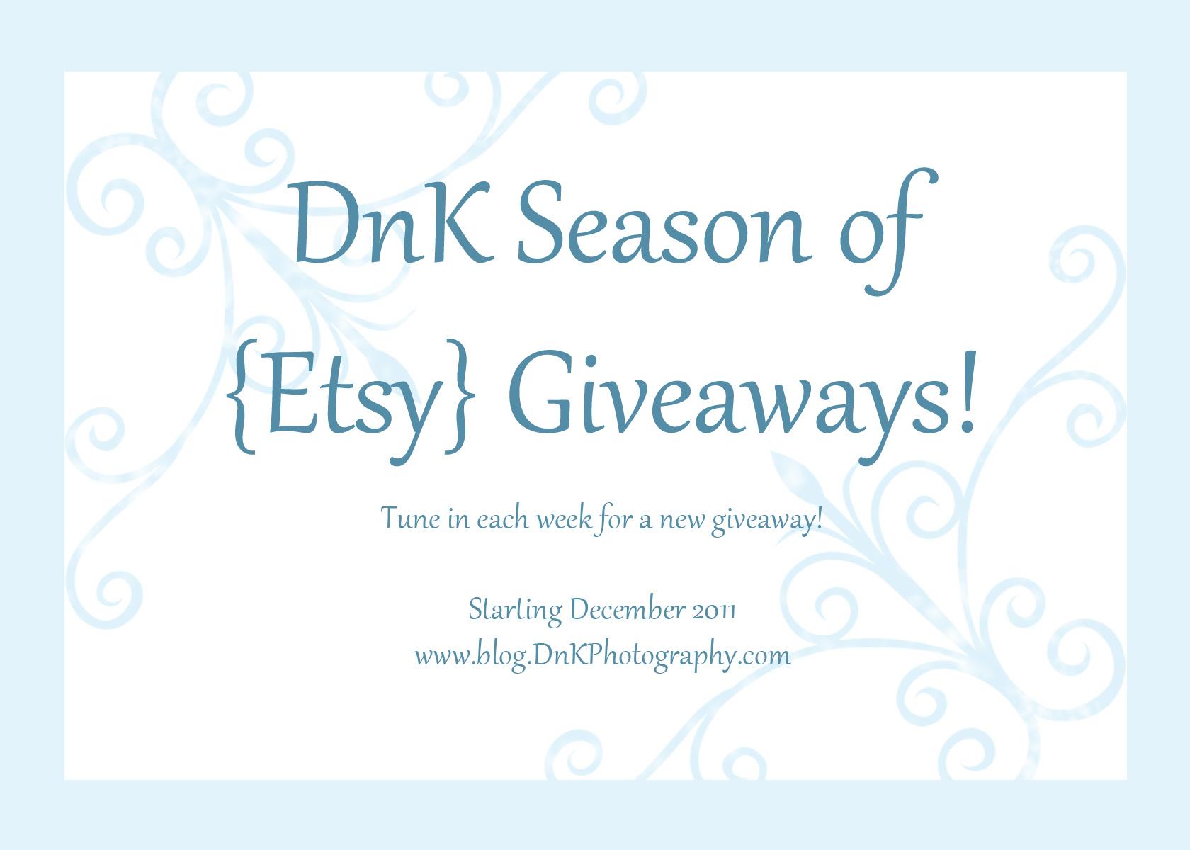Blog giveaways etsy