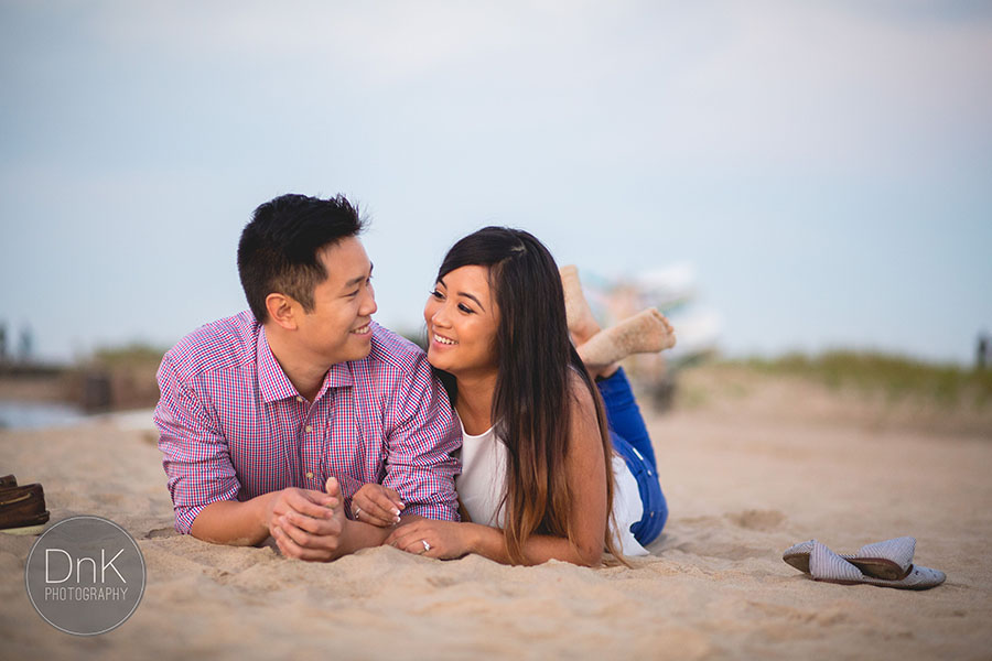 Thanh and Nick's Downtown Chicago Engagement Session