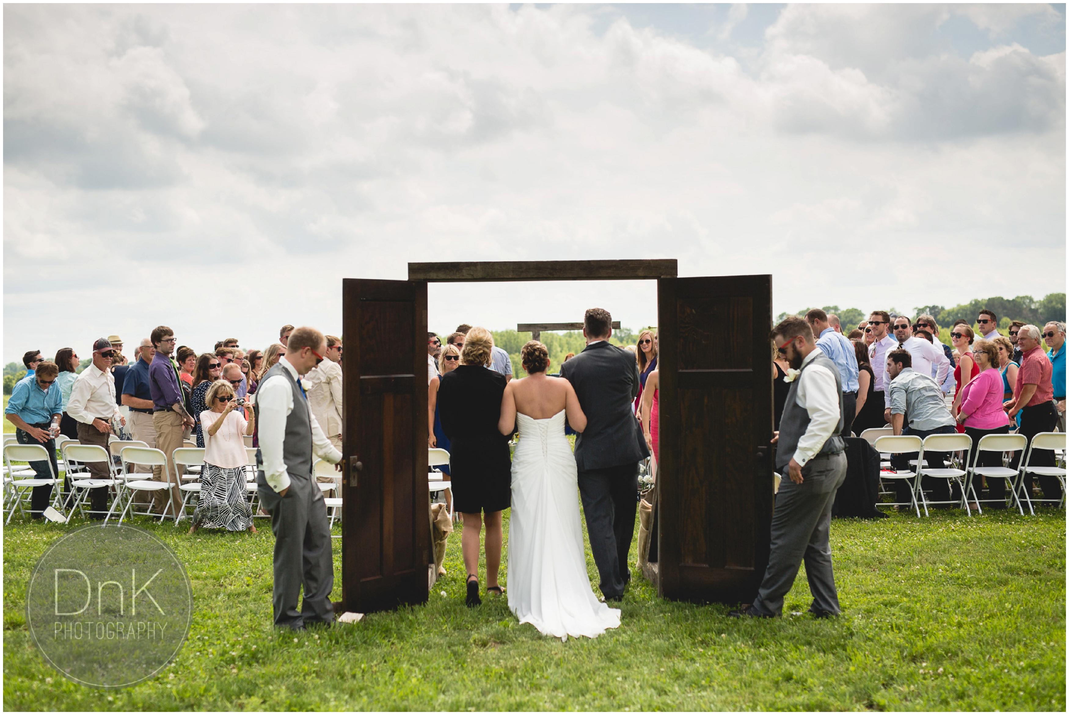17- Outdoor Wedding Ceremony Dellwood Barn