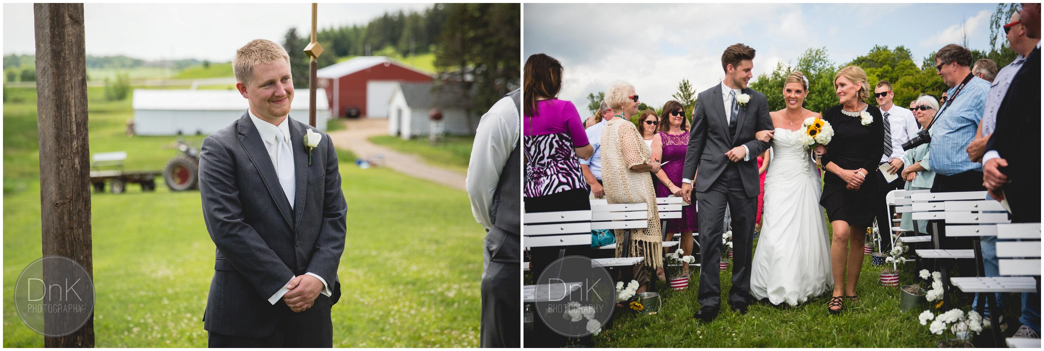 18- Outdoor Wedding Ceremony Dellwood Barn