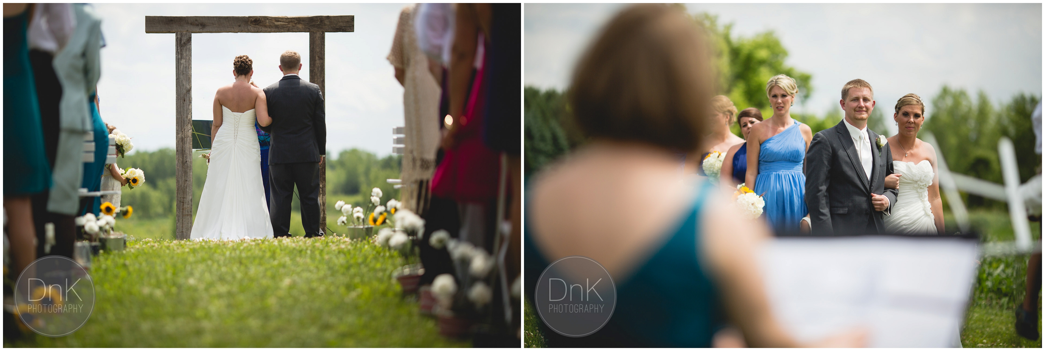 19- Outdoor Wedding Ceremony Dellwood Barn