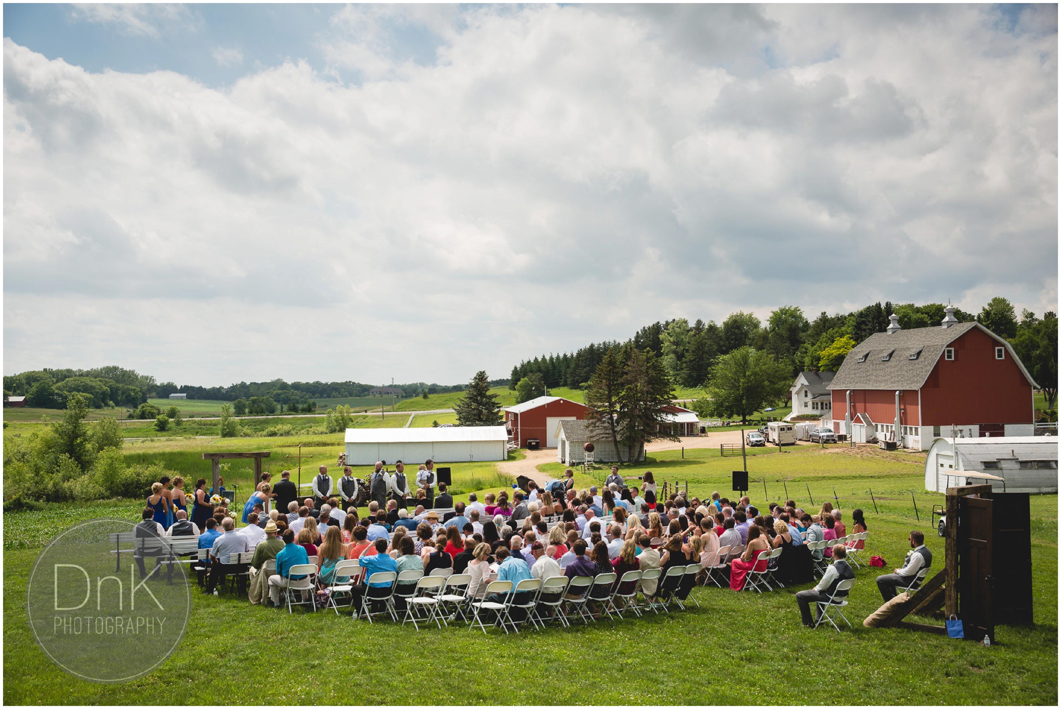 20- Outdoor Wedding Ceremony Dellwood Barn