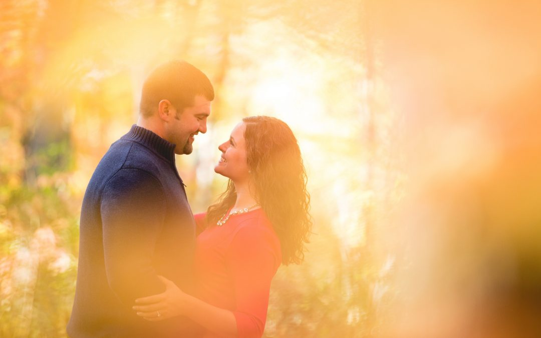 Fall Colors Engagement Pictures with Megan and Mike
